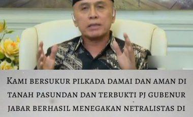 Pj Gubernur Iwan Bule Dapat Pujian dari LAKSI