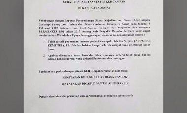 Rilis Pernyataan Cabut Status KLB Campak, Bupati Asmat Sindir Ketua BEM UI