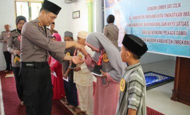 Tingkatkan Ukhua Islam, Polres Enrekang Gelar Lomba Dai Cilik