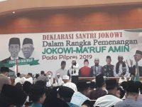 Jokowi Tak Pernah Kesampingkan Ulama, Ribuan Santri Mantap Deklarasikan Dukung Jokowi-Ma'ruf Amin 2019