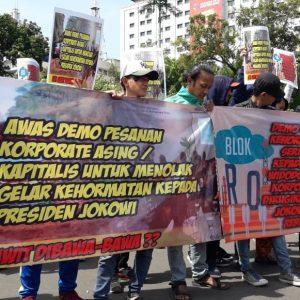 Demo Penolakan Pemberian Gelar Kehormatan Untuk Presiden Jokowi Diduga Ditunggangi Politik dan Korporat Asing