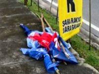Nekat Langgar Aturan, Ratusan APK di Jalan Protokol Riau Ditertibkan