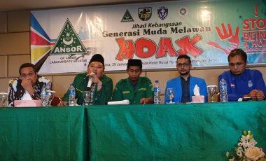 GP Ansor Labusel Himbau Kader Jihad Lawan Hoax, Siap Kawal Pilpres 2019