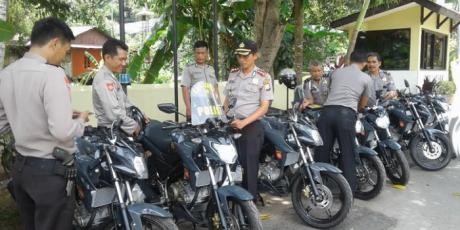 Jelang Amankan Pilkada 2018, Polres Enrekang Tambah 16 Randis ke Sabhara dan Polsek
