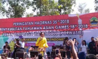 Sambut Atlit Asian Games, Warga Solo Antusias Ikuti Haornas Porwaso